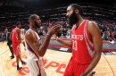 James Harden was recruiting Chris Paul to the Rockets last season