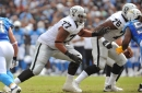 What condition Raiders position is in: Offensive tackle has an open competition going on