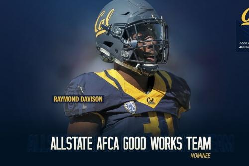 Cal LB Ray Davison nominated for Good Works team