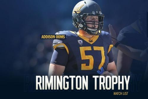Cal center Addison Ooms makes Rimington Trophy watch list