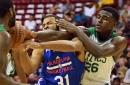 Bird soars as summer Celtics defeat defending champ Warriors 93-69
