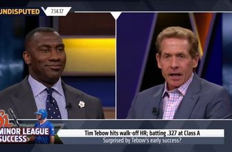 Skip Bayless: I wouldn't be surprised if Tim Tebow is called up to the Mets | UNDISPUTED