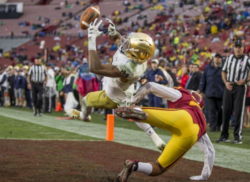 Notre Dame WR Equanimeous St. Brown named to Biletnikoff Award watch list