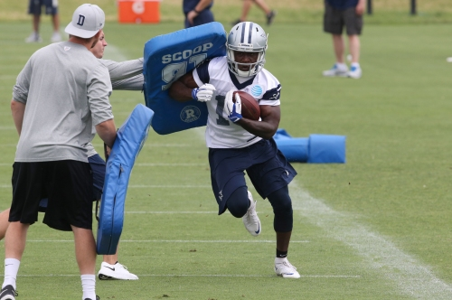 Cowboys' Lucky Whitehead reunited with missing dog