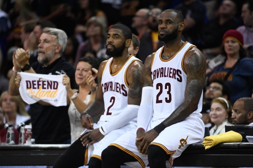 """Kyrie Irving says the Cavs are in a """"peculiar place"""" this summer"""
