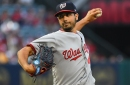 "Gio Gonzalez ""wild high"" and just outside the zone vs Angels in Nationals' 7-0 loss..."