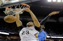 Anthony Davis tries viral drive by dunk challenge