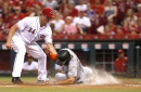 Reds' offense sputters again, loses to Miami 3-1