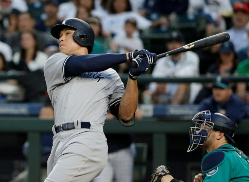 VIDEO: Aaron Judge hits home run nearly out of Safeco Field