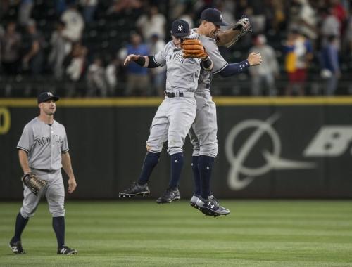 Aaron Judge's teammates react to moonshot at Safeco Field