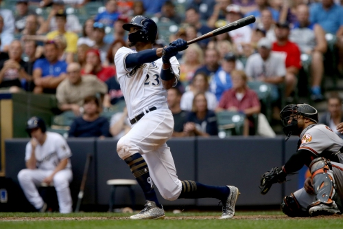 Streaky Keon Broxton sent down to make room for Eric Sogard