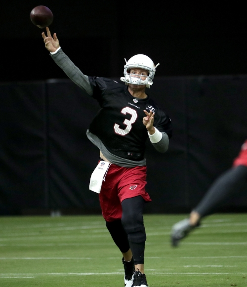 QB Palmer feels strong after limiting offseason throws The Associated Press