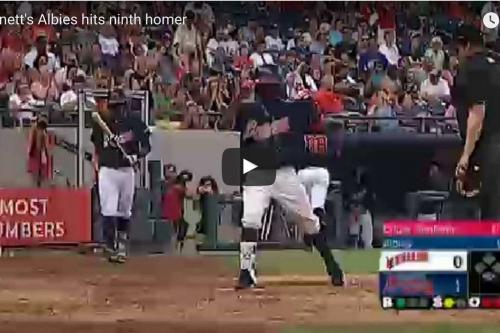 Ozzie Albies homers again