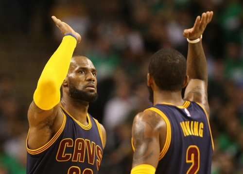 Is this LeBron James' response to Kyrie Irving's trade request?