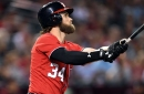 Bryce Harper doesn't think or want to talk about stride-free swing + Nationals' lineup for finale with D-backs...