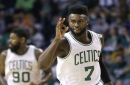 Boston Celtics' Jaylen Brown delivers vicious entry to Drive-By Dunk Challenge