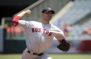 Rick Porcello pitches eight innings, but allows three solo homers in loss to Angels; Hanley Ramirez hits 16th homer