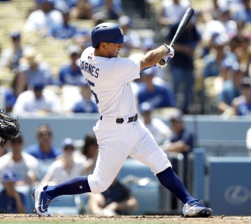 Logan Forsythe's single leads Dodgers to 10-inning win over Atlanta Braves