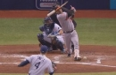 WATCH: Rays catcher Wilson Ramos leaves game after being bloodied by broken bat