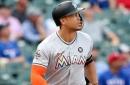 Giancarlo Stanton ties Aaron Judge for MLB lead in homers