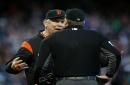 Bruce Bochy and Dave Righetti ejected, Giants lose to Pirates