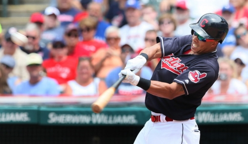 If only for one swing, Michael Brantley demonstrated that there's still some thunder left in his bat