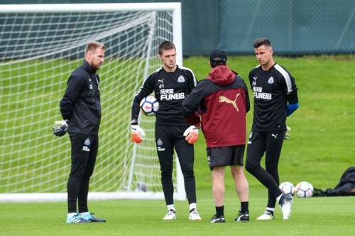 Newcastle United train in huge numbers - but some faces still missing from the group