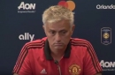 Manchester United manager Jose Mourinho reacts to Eric Bailly Uefa ban