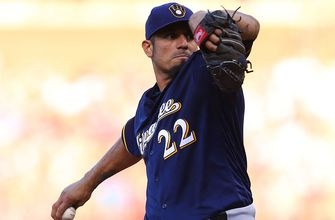 Garza, Suter lead continually improving Brewers' starting rotation