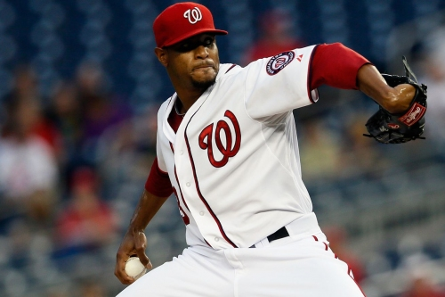 Edwin Jackson returns to Nationals Park in Nats' series opener with Milwaukee Brewers...