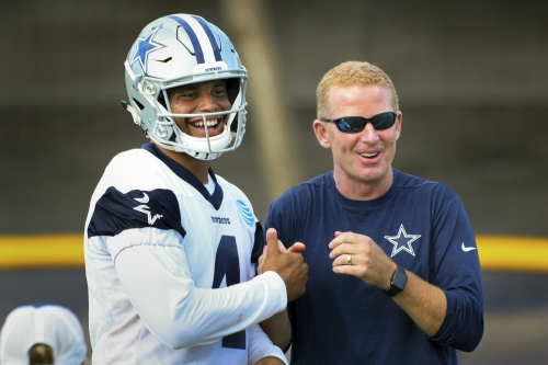 Prescott controls Cowboys at camp, quite a switch in a year The Associated Press