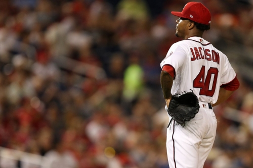"""Edwin Jackson will start again for Nationals: """"He's not on a pitch-by-pitch, performance-type thing."""" - Dusty Baker"""