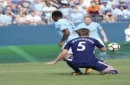 IMAGE DISTRIBUTED FOR INTERNATIONAL CHAMPIONS CUP - Manchester City's Raheem Sterling and Tottenham's Jan Vertonghen in Saturday, July 29, 2017, in Nashville, Tenn. (Sanford Myers/AP Images for International Champions Cup)