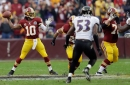 The Baltimore Ravens have discussed bringing in Robert Griffin III