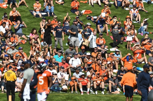 Broncos fans break single-day attendance record for training camp