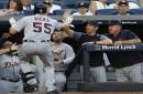 John Hicks homers, Shane Greene gets 1st save as Tigers beat Yankees