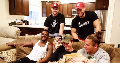 Inside the Cougars' lair: A tour of the house five WSU football stars share