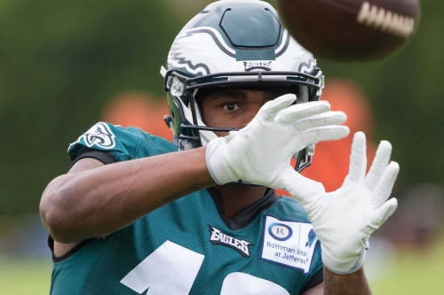 Shelton Gibson Makes A Highlight Play In Eagles Training Camp
