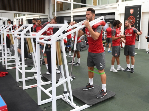 Theo Walcott says 'absolute animal' Sead Kolasinac's gym work has been the talk of the Arsenal dressing room