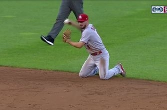 WATCH: DeJong makes diving defensive play, homers later in the game