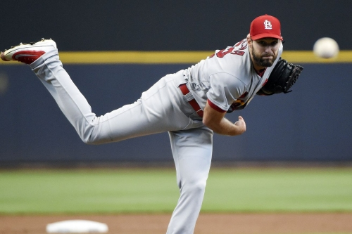 Michael Wacha throws a wicked fastball