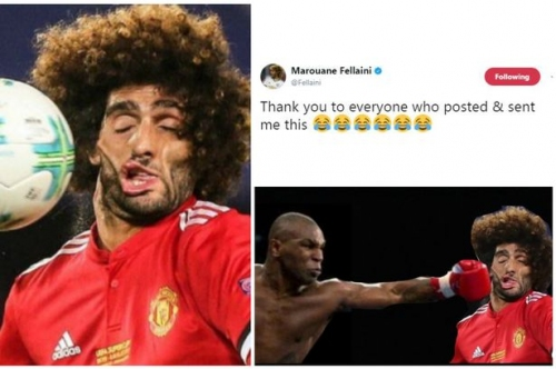Manchester United player Marouane Fellaini breaks Twitter with Real Madrid picture