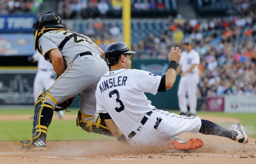 Pirates break up Justin Verlander's no-hit bid in sixth, but can't score in 10-0 loss