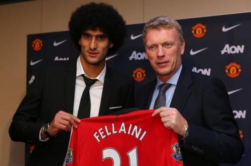 David Moyes launches defence of Manchester United's Marouane Fellaini
