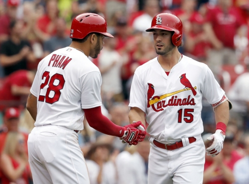 Pham back in lineup, Grichuk's turn to sit as Cardinals look to seal sweep