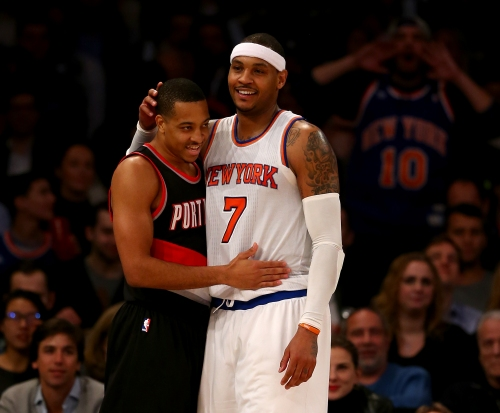 CJ McCollum, who has recruited Carmelo Anthony, played pickup with him