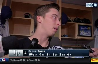Blake Snell commends catcher Jesus Sucre for the game plan Thursday