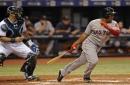 Rafael Devers returns, Dustin Pedroia out of Boston Red Sox lineup, Hanley Ramirez at first base vs. New York Yankees