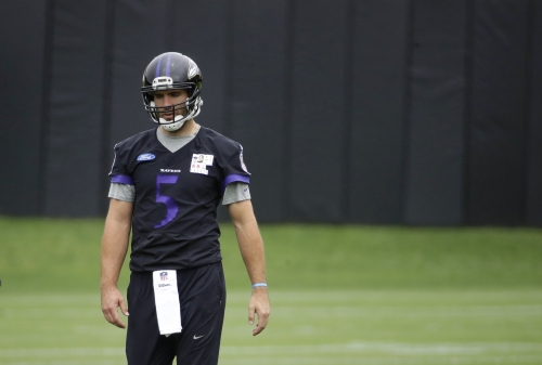Flacco makes progress, but Ravens lose OL Lewis for season The Associated Press