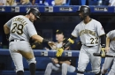 Pirates beat Blue Jays 4-2, but Andrew McCutchen exits with sore knee